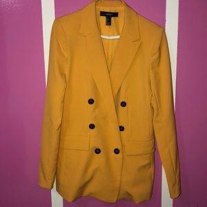Womens Yellow Slim Fit Blazer